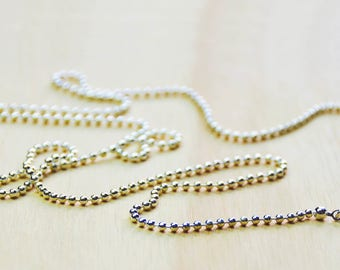 Ball Chain//silver platetd necklace//silver plated ball chain//silver plated chain - 75cm