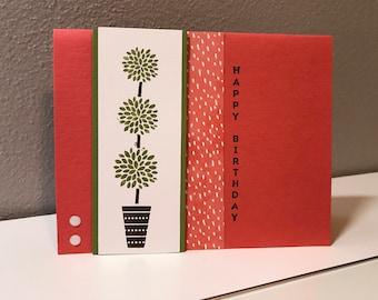 Birthday Handmade Stampin' Up! Card, Topiary
