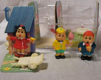 LITTLE LULU Toy Box Set, Vintage Lulu Play Set 1984, Lulu Vintage Toy Play Set, Little Lulu & Tubby Play Box, Collector Gift