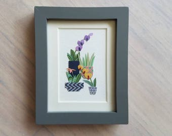 The Little Orchid Collection - Framed Original Art 4.5in x 3.5in