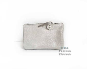 Mica ice piped leather wallet