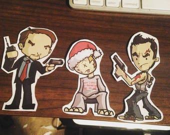 Die Hard Stickers (Set of 5)