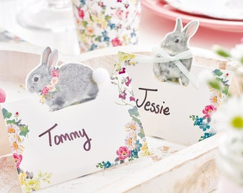 Bunny Place Cards - Bunny Birthday - Bunny Baby Shower - Rabbit Birthday - Woodland Animals - Rabbit Party - Hare Party - Some Bunny Is One