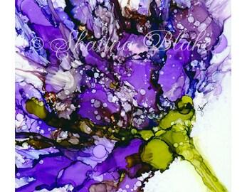 Floral Art Print, Fine Art Print, Home Decor, Wall Art, Poster - Purple Bloom