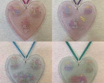 Pastel Heart Princess Pendant