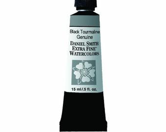 Black Tourmaline Genuine Watercolor Paint, 15ml Paint Tube, Daniel Smith Extra Fine Watercolor