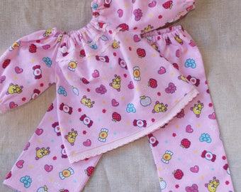 Waldorf Doll Clothes - Two piece Waldorf Doll  Pajamas ,fit 17 - 20 inch dolls