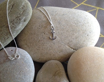 SOLD OUT Sterling Silver 925 Anchor Necklace with Sterling Silver Chain and Gift Box