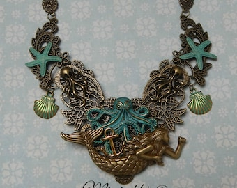 necklace mermaid queen of the seas