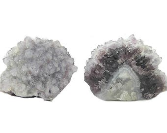 Amethyst Purple Crystal Cluster with sparkly sugar quartz druzy mined in the 1980s at the La Sirena Silver Mine Mexico