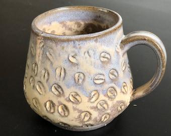 Handmade Coffee Bean Imprint Mug