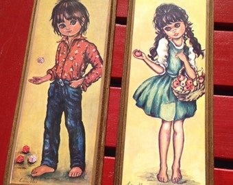 Link Mei, frames, vintage, girl and boy,