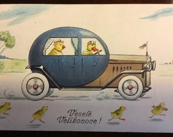 Whimsical vintage postcard