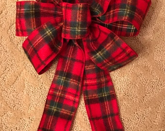 Plaid Flannel Christmas Bow