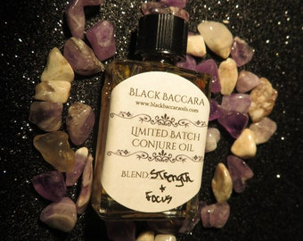 Limited Batch Strength And Focus Conjure Oil / Ritual Oil Moon Magic / Handmade Conjure Oil / Dressed Candle Oil / Intention Oil