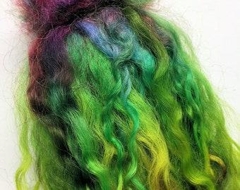 Crazy! - Wool Locks - Spinning Weaving Felting Doll Troll Hair - 1 oz