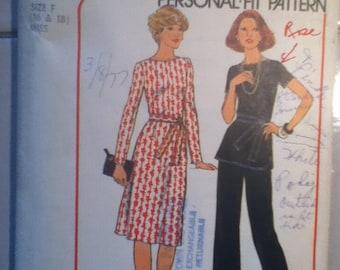 """Simplicity Dress, Top & Pants Pattern 7843   Size: 16-18, Bust 38""""-40"""", Waist 30""""-32"""", Hip 40""""- 42"""""""