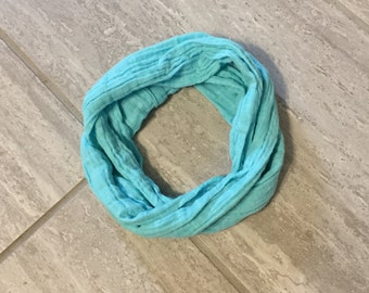 Toddler/Child Teal Infinity Scarf