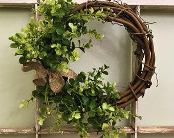 """10"""" Dainty Green Wreath"""