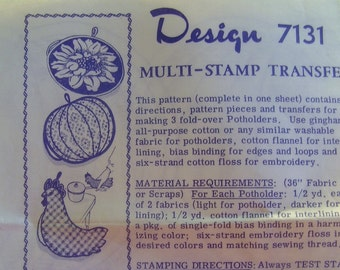 Vintage Potholder Pattern - Design 7131