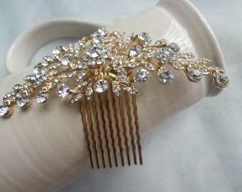 Floral Bridal Hair Comb, Wedding, Accessories, Crystal Hair Comb, Crystal Headpiece