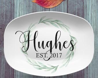 Custom Farmhouse Style Personalized Platter | Choose Your Design | Wedding • Shower • Anniversary • Housewarming