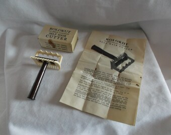 """Vintage Self Hair Cutter """"ROLOKUT"""" by Rolo Company made in England"""