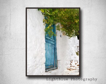 Door photography Greece Photography Greek photos Blue Wall decor Travel photography Fine art Print Turquoise decor Housewarming gift