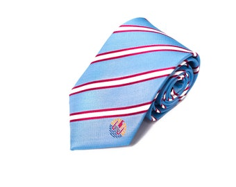 French Polynesia Tie (Tahiti) - Inspired by the French Polynesian Flag with Personalized Tag. Husband Gift, Missionary Gift. Fathers Day