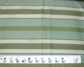 """GREEN ECRU & OLIVE Cotton Poly Blend Fabric 44"""" wide x 1 yd + 24"""" long"""