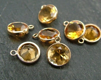 Gold Filled Citrine Charm 6mm