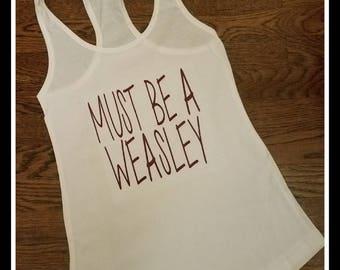 Doit être un Weasley Womans nageur débardeur, Weasley Tank Top, pas cher Weasley débardeur