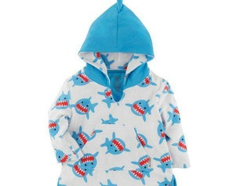 Shark Cover Up - Beach Baby - Shark Party - Toddler Swim - Kids Cover Up - Baby Boy Towel - Baby Bath Robe - Shark Toddler Towel