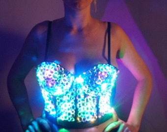 Glowing Crystal Light Up Corset