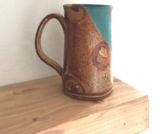 Tall mug, extra large coffee mug, tea cup, handmade pottery mug