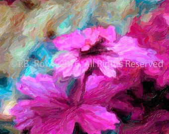 Flowers, Flower Art, Nature Print, Pink Flower, Pink Home Decor, Floral Prints, Floral Home Decor, Art on Canvas, Flower Print, Canvas Print