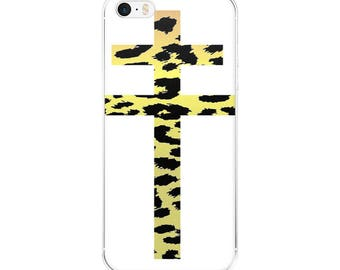 Leopard iPhone Cases --- slim fit plastic cute iphone plus case leopard print animal prints cross print doublecross design minimalist fierce
