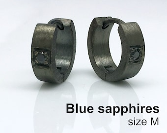 sapphire in stud outlet sterling zales men mens black solitaire v neal s silver o earrings c shaquille