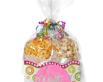 Just because gift, gift box, popcorn, popcorn boxes, gourmet popcorn, kettle corn, gift women, gift for men, caramel popcorn