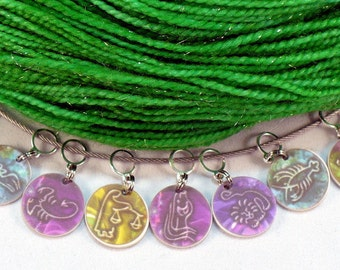 ZODIAC full set, stitchmarkers for KNITTERS