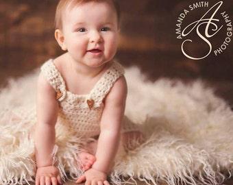 Baby overalls, baby romper, newborn baby overalls,  Baby photo prop, toddler photo prop, crochet baby prop, baby romper, sitter romper