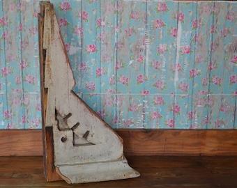 Vintage Corbel * Large * Wood * Architectural Salvage * White * Farmhouse * Bracket *