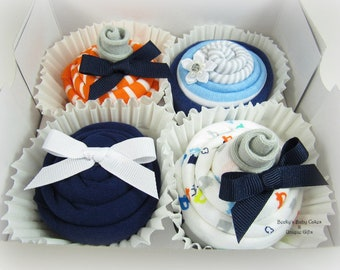 Baby Boy Gift, Onesie Cupcakes, Baby Boy Gift Basket, Baby Shower Gift, Baby Cupcakes, Boy Baby Shower Gift, Pregnancy Gifts, Mom to Be Gift