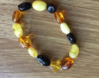 Baltic Amber Teething Anklet/Bracelet