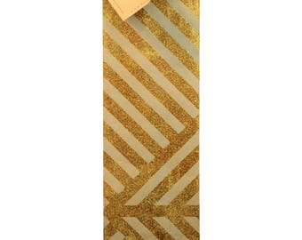 Geometric ZigZag Iced Latte & Gold Sparkle Wine Bag (Pack of 3)