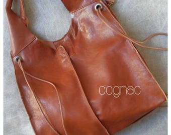 RUSTIC LEATHER BAG- Boho style- Distressed Leather bag-Messenger bag-Leather Hobo bag- Handmade