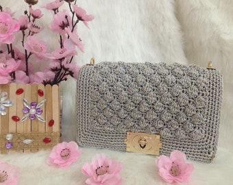 Crocheted bag-Handmade bag-crochet small bag-bag-bag-box bag - MTmini 01