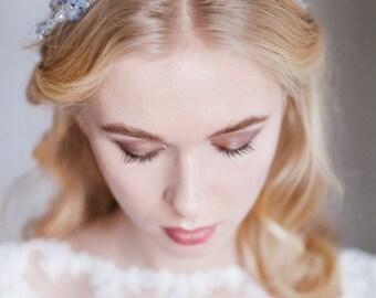 Bridal hair wreath, bridal hair vine, Bridal Halo, Crystal Halo, Wedding Headpiece, Bridal Headpiece, Bridal hair piece, Romantic Halo,
