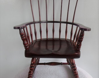 """Sale.....Sale.....   VINTAGE Wooden Doll ROCKER 12""""High, 8""""across Never Used NEW,  Old Store Stock / Perfect Condition."""