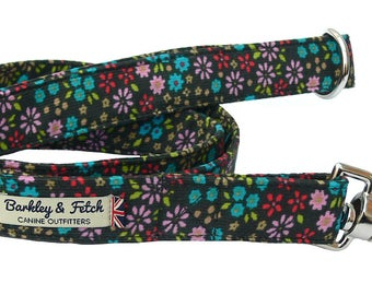 Baby Cord Ditsy Flower Dog Lead
